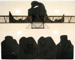 Balcony, 1980wood, canvas, rubber 132 x 176 x 18 inches Copyright ©2002 Salvatore Scarpitta. All rights reserved.